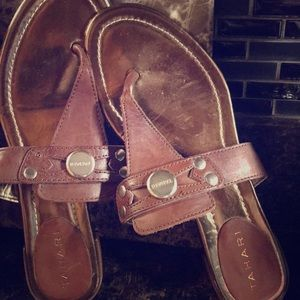 Tahiti leather sandals
